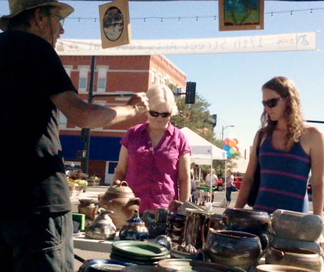 Muddy Mountain Pottery Outdoor Art Festival in Cheyenne