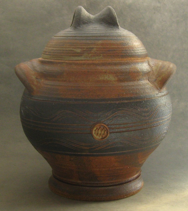 stoneware cannister pottery crock